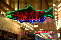 Pike Place Market Neon Fish Sign