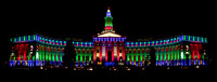 Denver City and County Building Holiday Lights Panorama