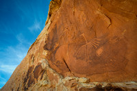 Big Crane Petroglyph Cliff Face and Sky