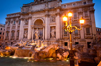 Rome - Trevi Fountain and Lamp