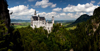 Neuschwanstein Panorama from Marien-brucke