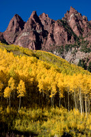 Maroon Bells Mountains and Aspens