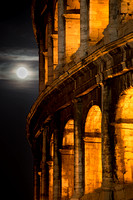 Rome - Moonrise and Colosseum