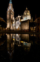 Toledo Cathedral Night Reflections