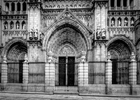 Toledo Cathedral Front in BW