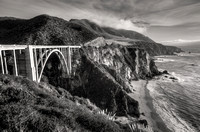 Bixby Creek Bridge Black & White
